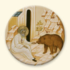 St Seraphim with Bear