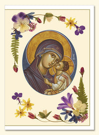 Name Day Greeting with the Mother of God Card