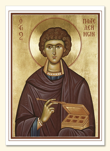 St Panteleimon Card