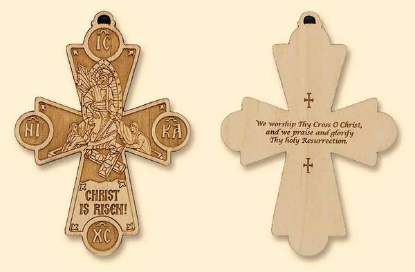 Resurrection Laser-engraved Cross