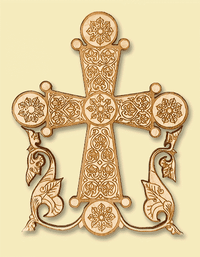 Byzantine Style Laser-engraved Wall Cross