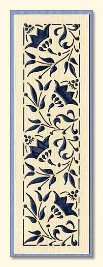 Flower Design Laser-Engraved Bookmark