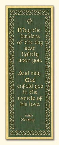 Irish Blessing Laser-Engraved Bookmark