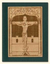 Crucifix Wood Veneer Card