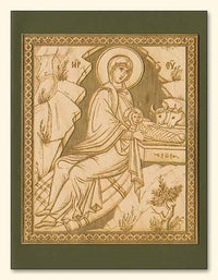 Nativity Wood Veneer Card