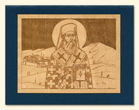 St. Nectarios Wood Veneer Card