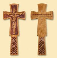 "Priest's Blessing Cross with ""Let God arise and let His enemies be scattered, and let them that hate Him flee before His face"" engraved on the back"
