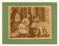St. Seraphim Wood Veneer Card