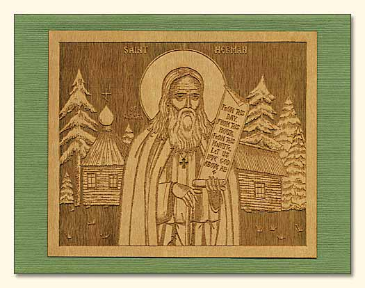 St. Herman Wood Veneer Card