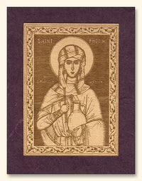 St. Photini the Samaritan Wood Veneer Card