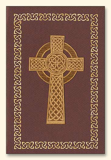 Celtic Cross Design Three Wood Veneer Card
