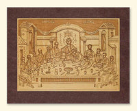 Mystical Supper Icon Wood Veneer Card