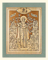 Mother of God the Joy of All Who Sorrow Icon Wood Veneer Card
