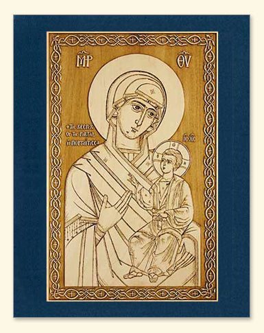 Mother of God of the Portal (Portaitissa) Icon Wood Veneer Card