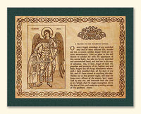 Guardian Angel with Girl and Prayer Wood Veneer Card