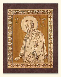 St. Basil the Great Wood Veneer Card