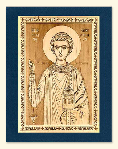 St. Stephen Wood Veneer Card