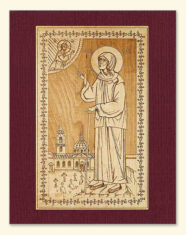 St. Xenia of St. Petersburg Wood Veneer Card