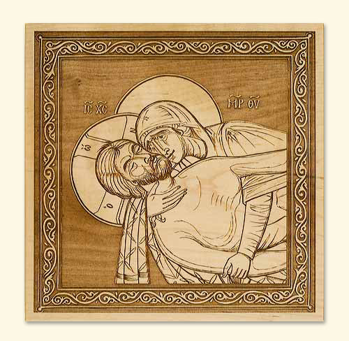 Lamentation at the Tomb Icon