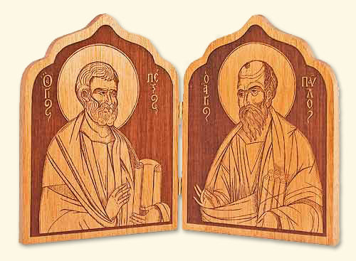 Diptych with Saints Peter and Paul