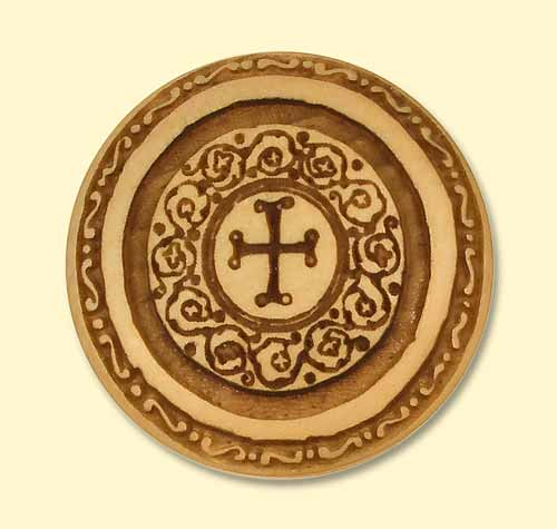 Drawer Knob with Byzantine Cross Design