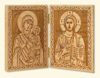 Diptych with Saviour and Mother of God