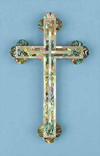 Abalone Cross with Mother of Pearl Onlay