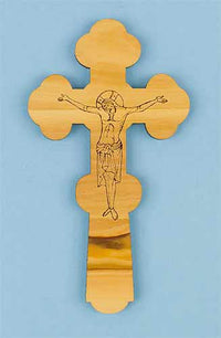 Hand Cross with Etched Crucifix and Nativity Seal