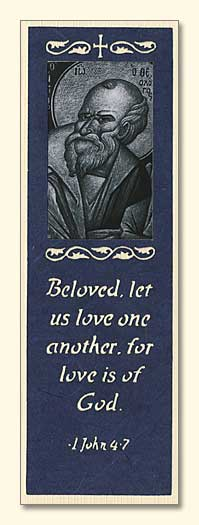 St. John the Theologian Laser-Engraved Bookmark