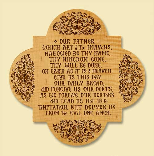 Our Father Laser-engraved Plaque