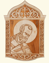St. Nicholas Laser-engraved Icon