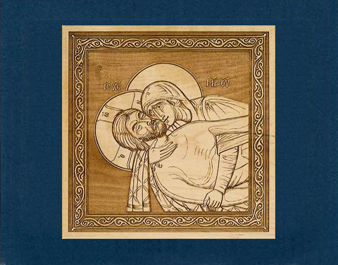 Lamentation at the Tomb Wood Veneer Card