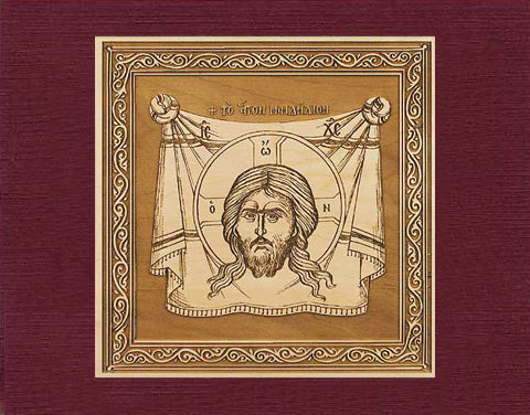 Holy Napkin Icon Wood Veneer Card