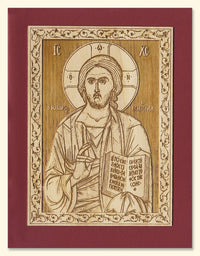 Jesus Christ the Lightgiver Wood Veneer Card