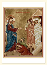 Raising of Lazarus Greeting Card