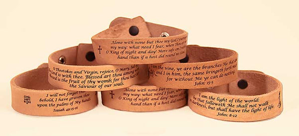 Leather  Laser Engraved Prayer Reminder