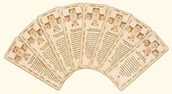 Set of Resurrection Dismissal Hymns Wood Veneer Bookmarks