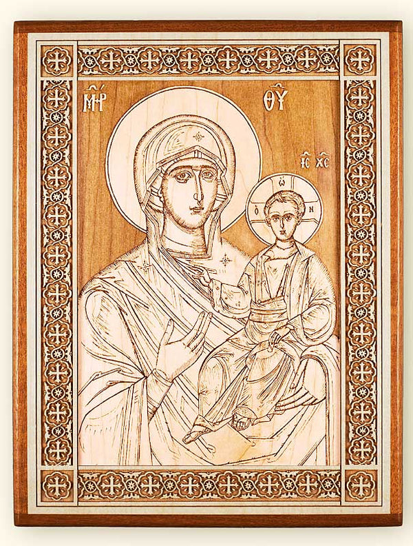 Directress Mother of God Laser Engraved Icon
