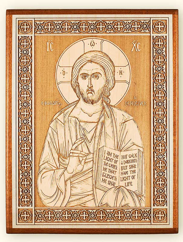 Christ the Lightgiver Laser Engraved Icon