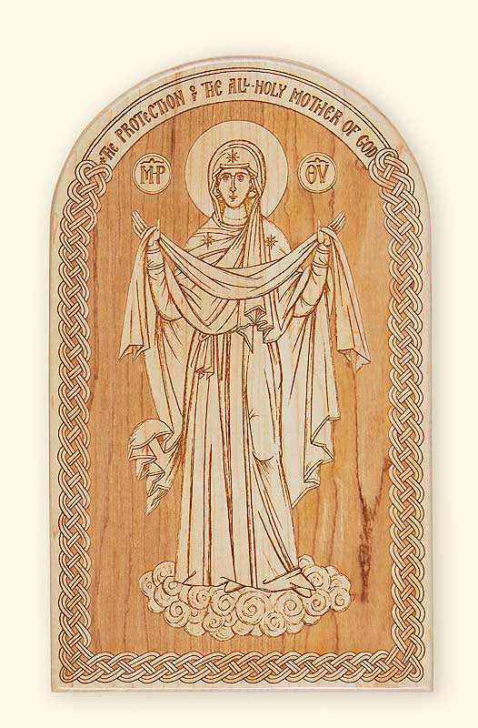 Protection of the Mother of God Laser-engraved Icon L234