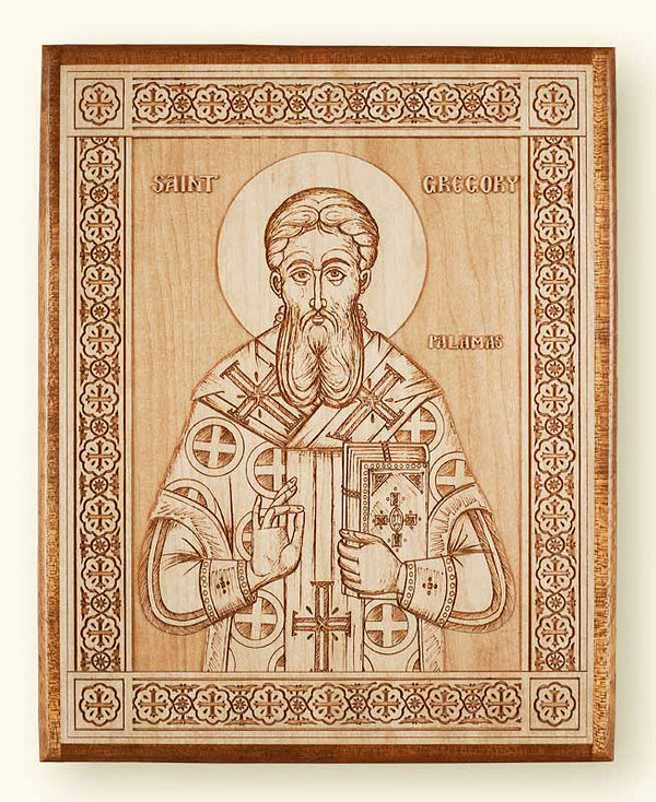 St. Gregory Palamas Laser Engraved Icon