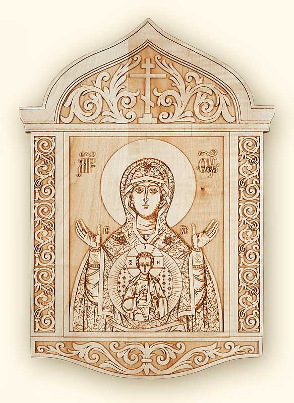 Kursk Mother of God Laser Engraved Icon