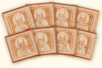 Set of 8 Laser Engraved Icons of the Elders of Optina