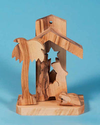 N116 Small Olivewood Manger