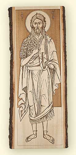 L235 St. John the Baptist Standing Laser Engraved Icon