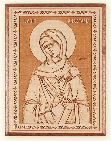 L237 St. Anastasia the Roman Laser Engraved Icon