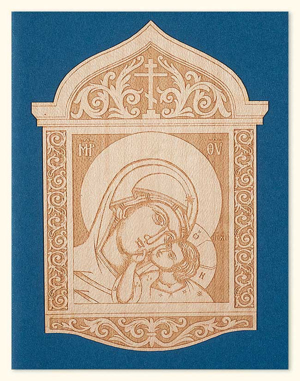 G427 Sweet-Kissing Mother of God Laser Engraved Wood Veneer Card