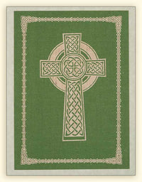 G350 Celtic Cross Laser Engraved Paper Card, Green