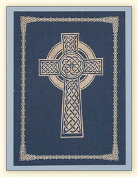 G350 Celtic Cross Laser Engraved Paper Card, Blue