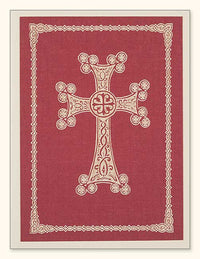 G351 Armenian Cross Laser Engraved Paper Card, Red